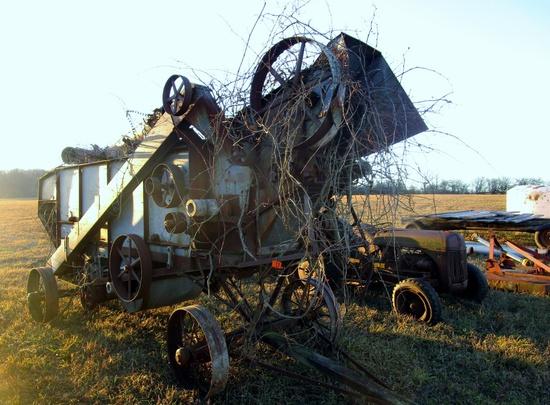 McCormick Steel Wheel Thrashing Machine!