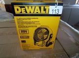 DeWalt Jobsite Fan - New!
