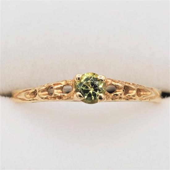 Yellow Gold Peridot Baby Ring - New!