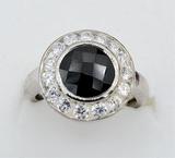 Sterling Silver Garnet & Cubic Zirconia Ring - New!