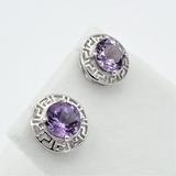 Sterling Silver Amethyst Earrings - New!