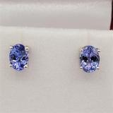 Sterling Silver Tanzanite Earrings - New!