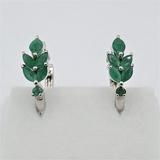 Sterling Silver Emerald Earrings - New!