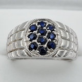 Sterling Silver Sapphire Ring - New!