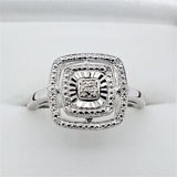 Sterling Silver Diamond Cocktail Ring - New!