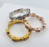 Sterling Silver Plated Cubic Zirconia Rings - New!
