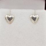 Sterling Silver Heart Earrings - New!