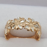 Sterling Silver Rose Gold Plated Ring - New!