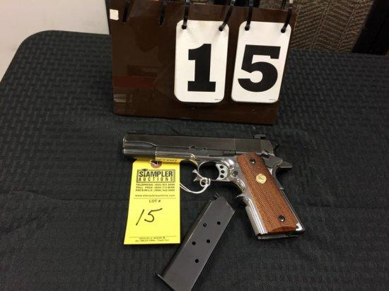 PISTOL - COLT - M1911 45ACP - SERIAL #S2558 - SA SEMI AUTO - SS Frame / Parkerized Slide / Colt Wood