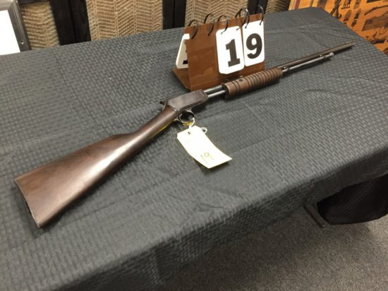 RIFLE / SPORTING - ROSSI - GALLERY 037 22LR - SERIAL #G498552 - PUMP - Wood / Blue; Arcade Type; New
