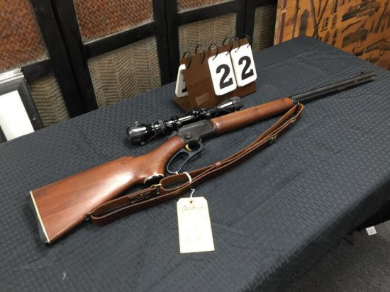 RIFLE / SPORTING - MARLIN - GOLDEN 39A 22S, L & LR - SERIAL #AC3113 - LEVER - Wood / Blue; Leather S