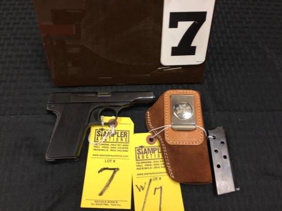 PISTOL - BROWNING - 1955 380ACP - SERIAL #521158 - SA SEMI AUTO - Black / Black; Custom Grip; 6+1; w