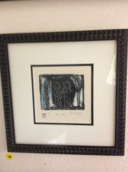 ART - THE TIME - ETCHING - SIGNED M OLPOVAR (LOWER RIGHT - PENCIL) - NUMBERED 2/5 (LOWER LEFT) - LIM
