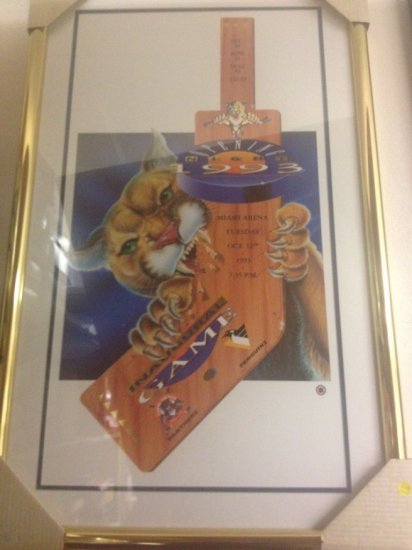 FLORIDA PANTHERS INAUGURAL GAME / OCTOBER 12, 1993 / OPENING NIGHT - SIGNED DENIS PEREIRA (LOWER LEF
