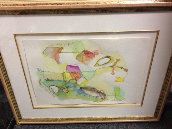ART - AQUARELA SOBRE PAJEL - WATERCOLOR - SIGNED ANA FLAVIA BALDISSEROTTO 1995 (LOWER RIGHT - PENCIL