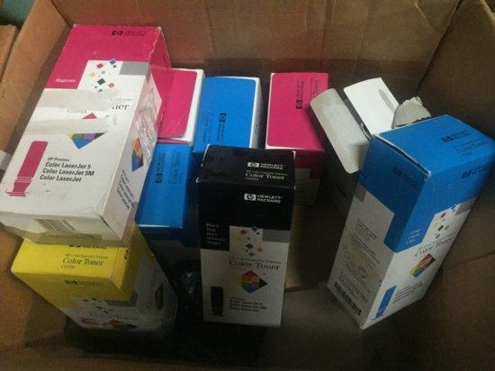 HP LASERJET COLOR TONERS - 3- 3103A YELLOW / 3- C3104A MAGENTA / 4- C3102A CYAN / 1- C3105A BLACK