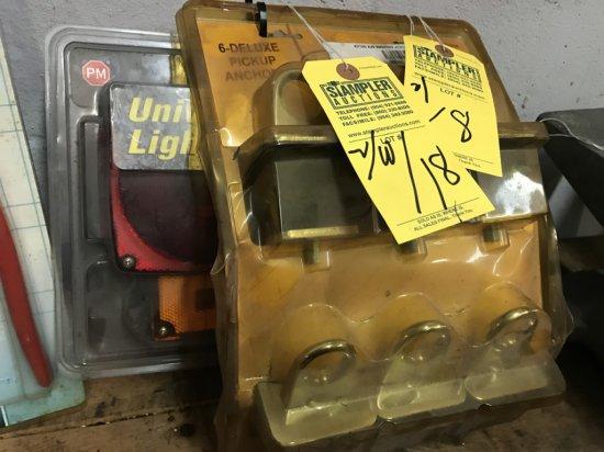 ASSORTED SETS - UNIVERSAL TRAILER LIGHT SET / 6 PIECE PICKUP ANCHOR SET