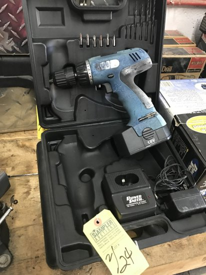 POWERSMITH CORDLESS 18V DRILL KIT WITH BATTERY CHARGER IN CASE