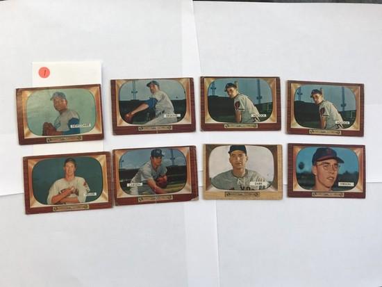 BASEBALL CARDS - 1955 BOWMAN #67 / #134 / #2 / #296 / #218 / #218 / #170 / #143 - STARS / SEMI-STARS