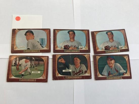 BASEBALL CARDS - 1955 BOWMAN #244 / #245 / #245 / #238 / #298 / #300 - HI # COMMONS - GRADE 1-3