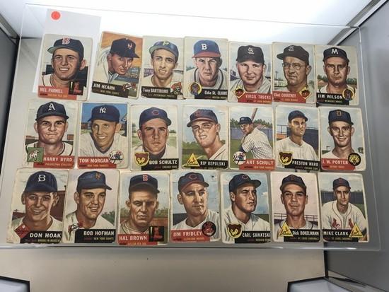 BASEBALL CARDS - 1953 TOPPS 1-220 - GRADE 1-2