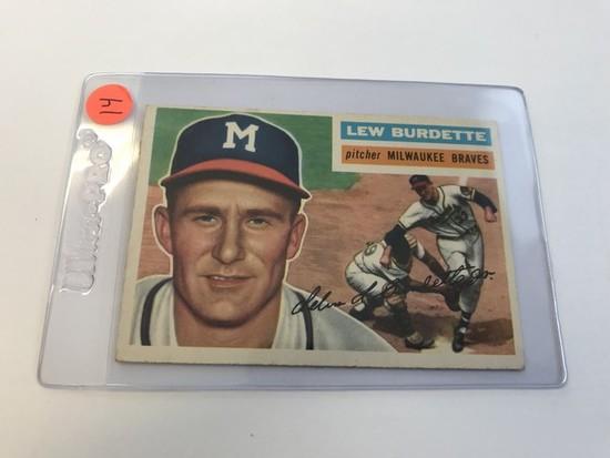 BASEBALL CARD - 1956 TOPPS #219 - LEW BURDETTE - GRADE 2-3