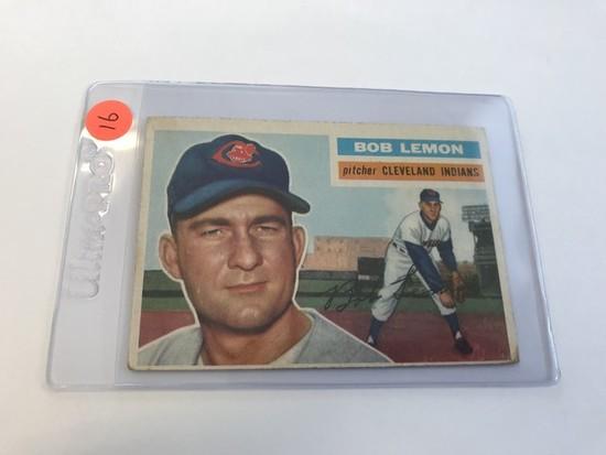 BASEBALL CARD - 1956 TOPPS #255 - BOB LEMON - GRADE 1-2