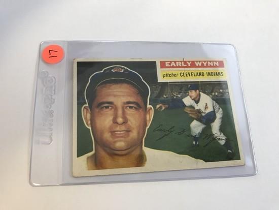 BASEBALL CARD - 1956 TOPPS #187 - EARLY WYNN - GRADE 2-3