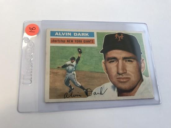 BASEBALL CARD - 1956 TOPPS #148 - ALVIN DARK - GRADE 3-4