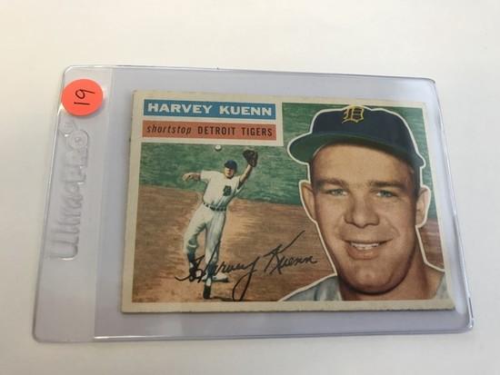 BASEBALL CARD - 1956 TOPPS #155 - HARVEY KUENN - GRADE 2-3
