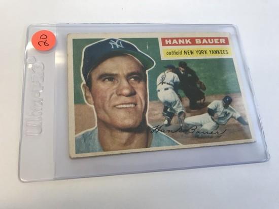 BASEBALL CARD - 1956 TOPPS #177 - HANK BAUER - GRADE 2-3
