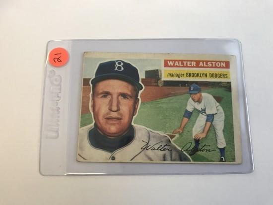 BASEBALL CARD - 1956 TOPPS #8 - WALTER ALSTON - GRADE 1-2