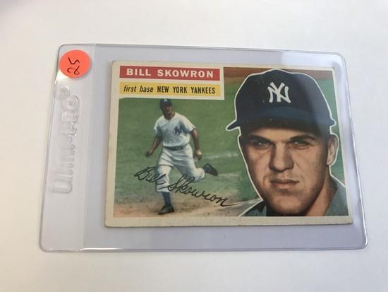 BASEBALL CARD - 1956 TOPPS #61 - BILL MOOSE SKOWRON - GRADE 3-4