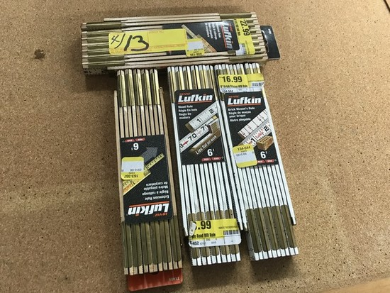 LUFKIN WOOD EXTENSION RULERS