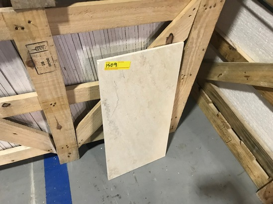 SQ.FT. - POLISHED CROSS CUT MARBLE - 12'' x 24'' x 7/16'' - 174 PIECES / 348 SQ.FT. (CRATE #103)