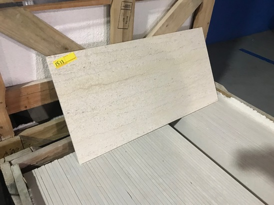 SQ.FT. - HONED VEIN CUT MARBLE - 12'' x 36'' x 7/16'' - 83 PIECES / 249 SQ.FT. (CRATE #114)
