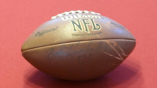 OFFICIAL NFL AUTOGRAPHED FOOTBALL - BOB KUECHENBERG