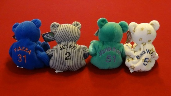 MLB SALVINOS BAMMERS - HOF'S - MIKE PIAZZA 31 / DEREK JETER 2 / RANDY JOHNSON 51 / JEFF BAGWELL 5