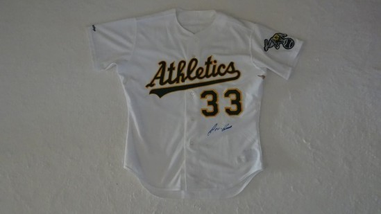 OAKLAND ATHLETICS AUTOGRAPHED JERSEY - JOSE CANSECO