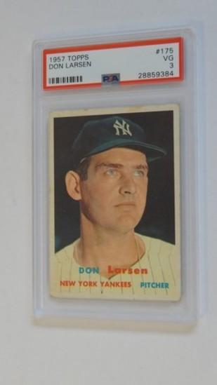 BASEBALL CARD - 1957 TOPPS #175 - DON LARSEN - PSA GRADE 3