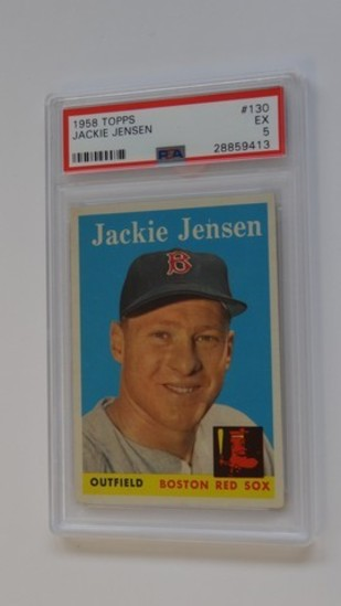 BASEBALL CARD - 1958 TOPPS #130 - JACKIE JENSEN - PSA GRADE 5