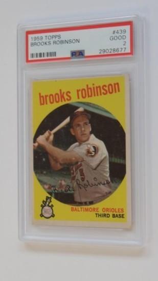 BASEBALL CARD - 1959 TOPPS #439 - BROOKS ROBINSON - PSA GRADE 2