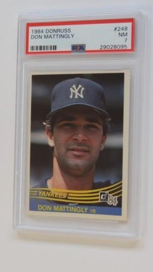 BASEBALL CARD - 1984 DONRUSS #248 - DON MATTINGLY - PSA GRADE 7 NM