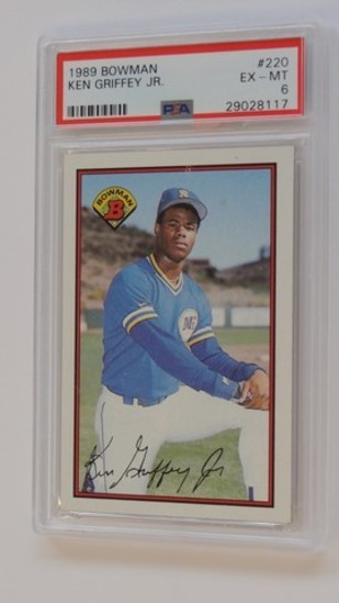 BASEBALL CARD - 1989 BOWMAN #220 - KEN GRIFFEY JR - PSA GRADE 6