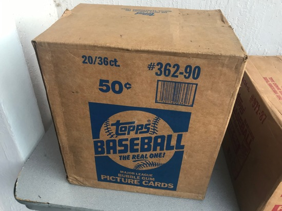 1990 TOPPS BASEBALL WAX CASE - 20 BOXES (36 CT / BOX) - SEALED