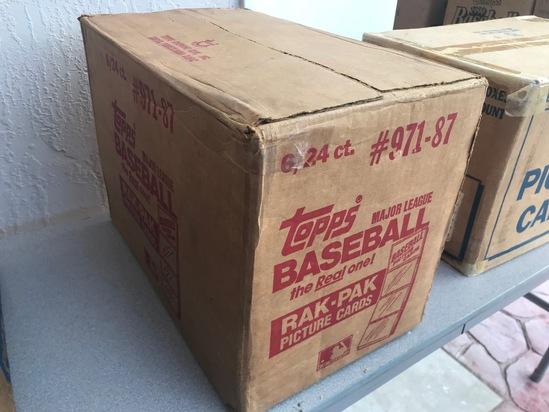 1987 TOPPS BASEBALL RAK PAK CASE - 6 BOXES (24 CT / BOX) - SEALED
