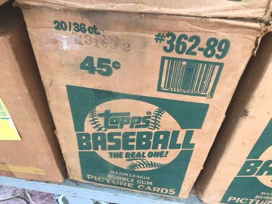 1989 TOPPS BASEBALL WAX CASE - 20 BOXES (36 CT / BOX) - SEALED