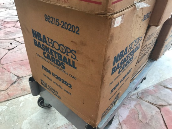 1989 NBA HOOPS WAX CASE WITH UPDATES - 20 BOXES (36 CT / BOX) - SEALED