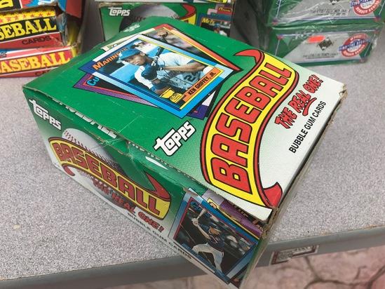 1990 TOPPS BASEBALL WAX BOX