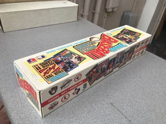 1991 DONRUSS BASEBALL SET PICTURE BOX - UNOPENED